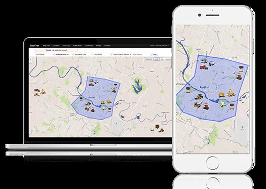 Track fleet management on desktops and phones