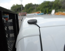 SolarTrak External Antenna on Truck Cab Roof