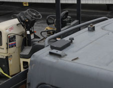 Tracker installed on Skid Steer Roof