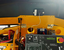 Tracker installed inside Boom Lift Controller