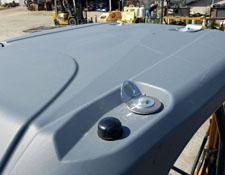 SolarTrak External Antenna on Mini Excavator Roof