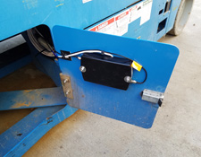 Tracker installed in Scissor Lift