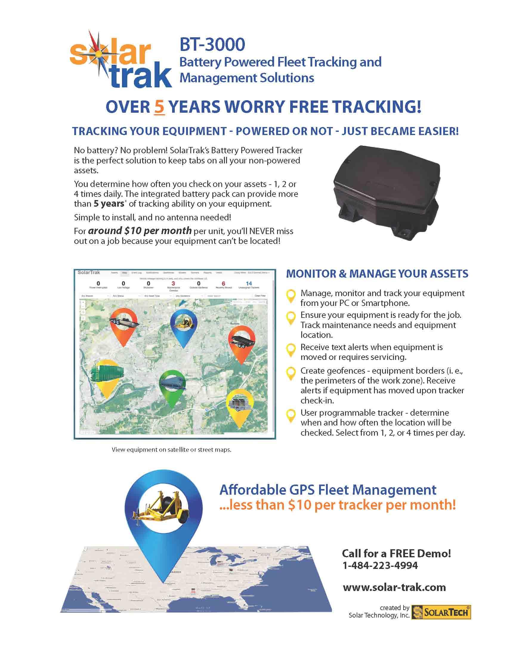 Battery Powered Tracker Literature